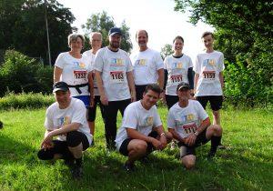 Bild der neun Läufer