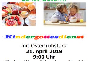 Kindergottesdienst mit Osterfrühstück